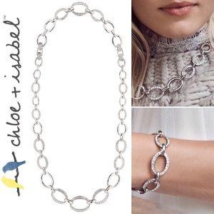 🆕PavéLinks Convertible Necklace+Bracelet N581CLSR